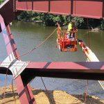 Iowa State engineers load new Iowa Falls bridge with damage-detection gauges