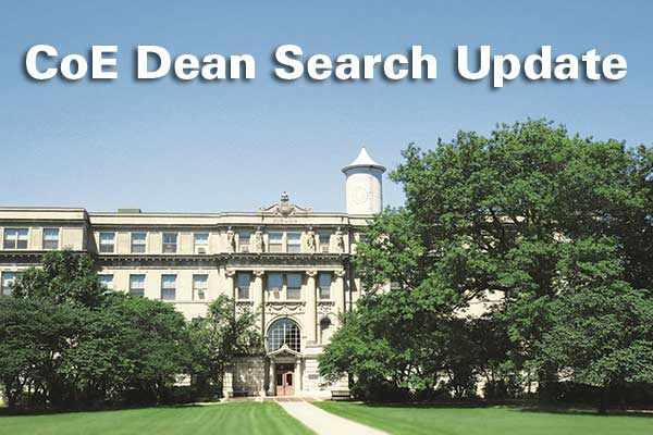 CoE Dean Search Update