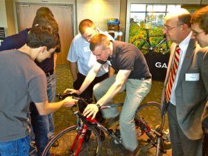 Tanner Hildebrand tests the Edge 800 touchscreen bike computer