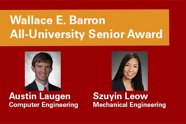 2013 Wallace E. Barron All-University Senior Award