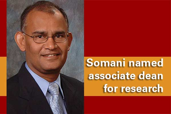 Somani named associate dean for research