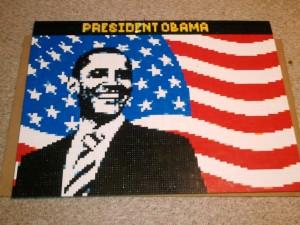 Obama Lego Mosaic