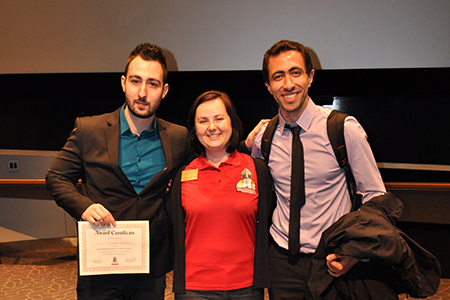 Structural engineering master's student Dimitrios Kalliontzis (far left) earned second place in the oral competition of the first Graduate and Professional Student Senate Conference April 4.