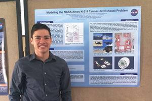 Civil engineering senior Toby Cruz interned for NASA in summer 2014.