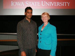 Matthew Panthani was recognized at the Fall Convocation ceremony on August 26, 2014.
