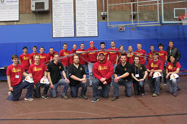 Iowa State is the 2015 American Society of Civil Engineers Midwest Region Student Steel Bridge Competition runner-up. Civil engineering students competed March 7 at Lakehead University in Thunder Bay, Ontario, Canada.
