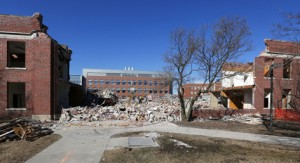 March 10: Davidson Hall site, looking north at Hach Hall.