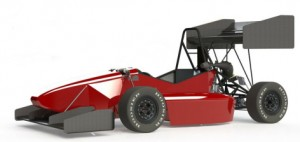 The student-engineers of Cyclone Racing have designed a formula racer with wings for this year's competitions. The resulting downforce should increase the car's cornering speeds. (Image courtesy of Cyclone Racing)