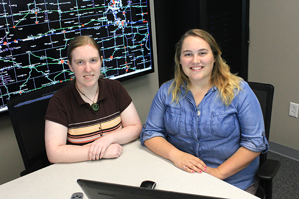 Civil engineering master's students Patricia Thompson (left) and Ellen Nightingale received the Eisenhower Fellowship, a prestigious graduate student award from the Federal Highway Administration (FHWA).