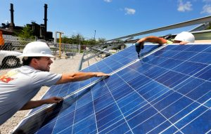 Solar panels installed on campus