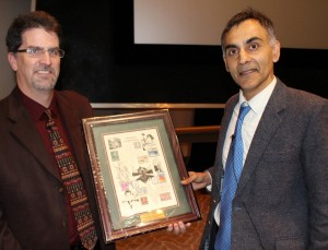 Dr. Chaitan Khosla of Stanford University (right) was the L.K. Doraiswamy Honor Lectureship series speaker as part of last year's CBE Graduate Seminar Series.