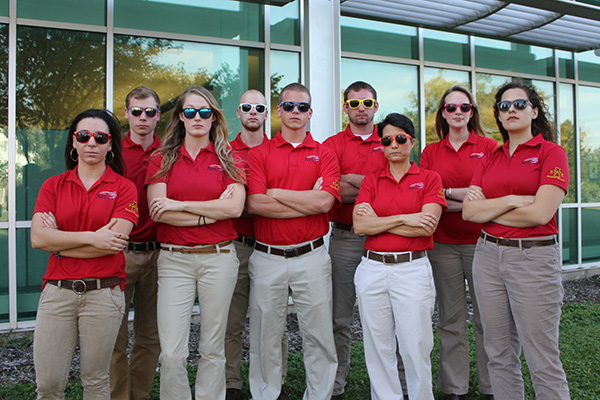 The National Electrical Contractors Association Iowa State University group plays it cool as 2-time ELECTRI International Green Energy Challenge champions. Pictured from left: