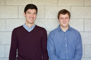Andrew Kitahara (left), senior in materials engineering, and Brandon Klosterman, senior in mechanical engineering