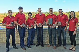 First-place Heavy Highway Division Team