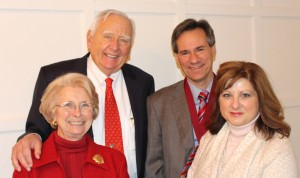 Dr. Brent Shanks (right), is joined by wife Dr. Jacqueline Shanks and donors Mike and Jean Steffenson at his medallion ceremony.