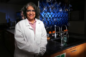 Surya Mallapragada says the bio- and bio-inspired materials developed in her lab have a lot of potential to improve human health. (Photo by Christopher Gannon)