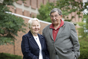 Bob Baumann and wife, Mary. Courtesy of ISU Foundation