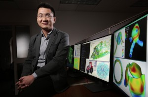 Iowa State's Ming-Chen Hsu is developing a computational toolkit to improve the design, engineering and operation of all kinds of machines. (Photo by Christopher Gannon)