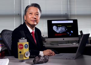 Iowa State University's Bong Wie is taking a practical, engineering-centric approach to saving the planet from asteroids. (Photo by Christopher Gannon)