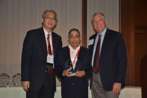 S.S. (Mani) Venkata, a former ECpE Department Chair at Iowa State University, was awarded the prestigious Robert M. Janowiak Outstanding Leadership and Service Award at the 2016 Electrical and Computer Engineering Department Heads Association (ECEDHA) Annual Conference and ECExpo in La Jolla, California this past March.