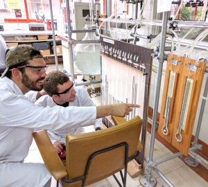 ISU CBE students Steven Anderson and Andy Fogerty are shown at work in one of the labs at Universidad de Oviedo.