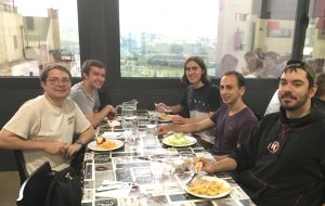 ISU CBE students enjoying a dinner together during their stay in Oviedo.