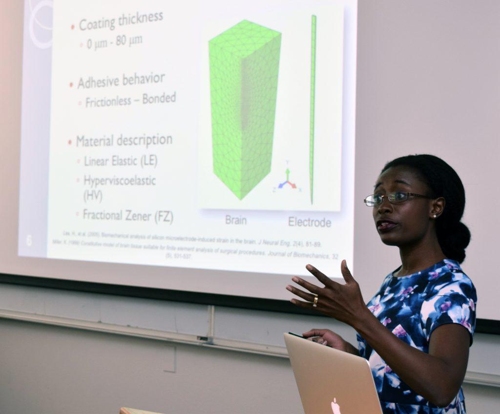Mechanical engineering assistant professor Sarah Bentil