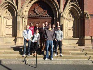 ISU NECA team members visit Harvard in Boston during the 2016 Green Energy Challenge (Photo courtesy Beth Hartmann)