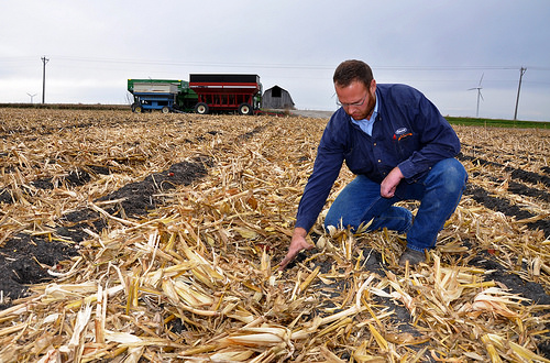 ISU mechanical engineering alum and Iraq War vet Adam Boge on his farm