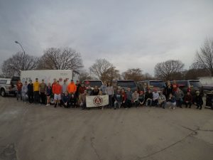 ISU AGC student members snap a group picture on Nov. 17, prior to leaving for Louisiana (Photo courtesy Kurtis Schreck)