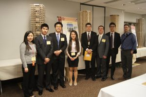 Iowa State EERI team and their adviser, Dr. Jeramy Ashlock, at 2016 Undergraduate Seismic Design Competition (photo courtesy Bin Cai)