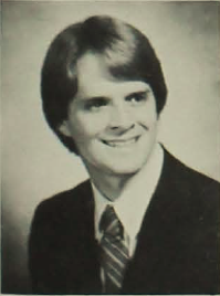 michael kane's senior photo in the 1982 yearbook