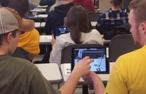 Students test out an early version of one structural engineering app (Photo courtesy Aliye Karabulut-Ilgu