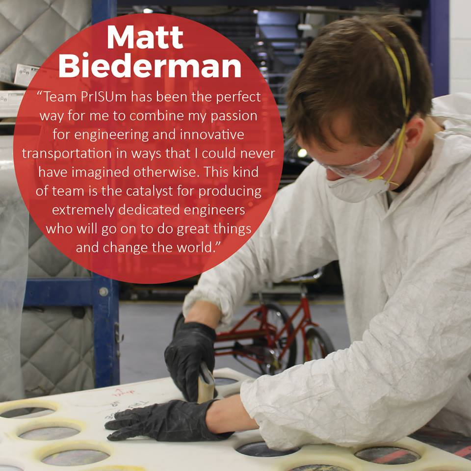Team PrISUm member Matt Biederman