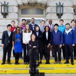 Civil engineering students take transportation studies on the road