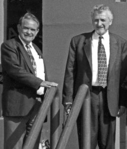 Dick Handy (left) and Nat Fox during a conference in Egypt. <i>Photo courtesy Dick Handy.</i>