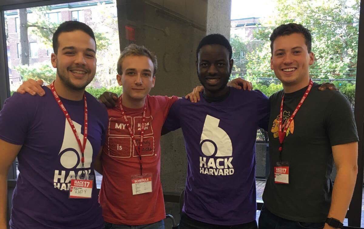(L-R): Mohamed Rami Daoud, Edan Meyer, Victory Omole (ISU) and Brendon Geils (ISU).