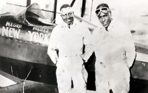 Banning and Allen with transcontinental plane