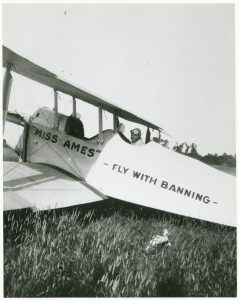 "Banning with ""Miss Ames"" plane"