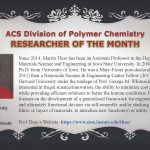 Martin Thuo as ACS Division of Polymer Chemistry Researcher of the Month