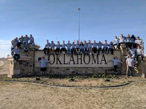 ISU AGC takes a group picture during their five work days in the OKC area. <i> Photos courtesy Nathan Pals. </i>