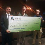 Engineering student duo wins Best New Innovation award at Iowa State's Innovation Pitch Competition