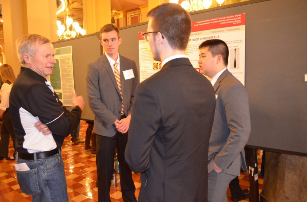 Industrial engineering students participate in Research at the Capitol day