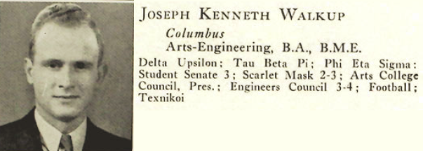 Joseph Waklup from Ohio State University yearbook