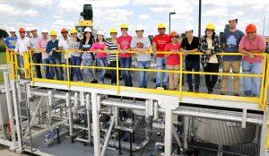 Grad students at Bio-Polymer Processing Facility