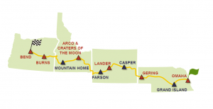 American Solar Challenge 2018, stage/checkpoint locations