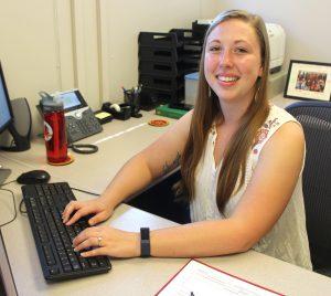 Mackenzie Sissel at desk