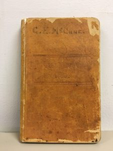 McCune's 1910 surveying notebook