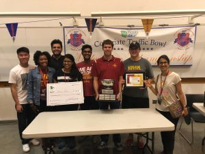 ISU TSA Traffic Bowl Team with its trophy. <i>Photo courtesy Hitesh Chawla.</i>