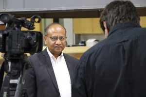Dr. Sarkar on camera